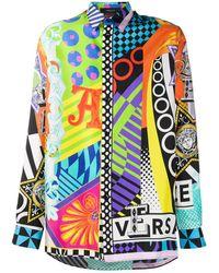 Versace Куртка-рубашка С Принтом Pop Temple - Оранжевый