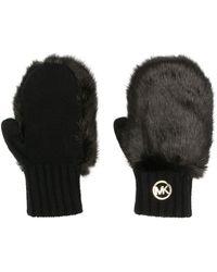 MICHAEL Michael Kors Faux-fur Detail Gloves - Black