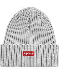 Supreme Overdyed Beanie - Grau