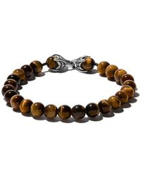 David Yurman - 'Spiritual Beads' Armband aus Tigerauge-Cabochons - Lyst