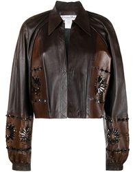 Dior Укороченная Куртка - Коричневый