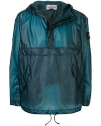 Supreme X Stone Island Hooded Jacket - Blue