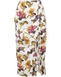 Jason Wu Floral-print Midi Skirt - White
