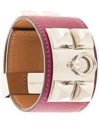 Hermès 'Collier de Chien' Armreif - Braun