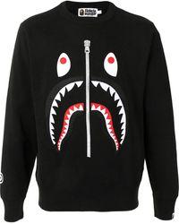 A Bathing Ape Shark スウェットシャツ - ブラック