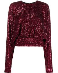 Redemption Sequinned Top - Red