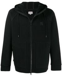 Woolrich Худи На Молнии С Нашивкой-логотипом - Черный