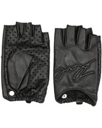 Karl Lagerfeld K/karl Fingerless Gloves - Black