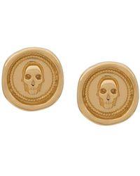 Northskull Atticus Skull Seal Earrings - Metallic
