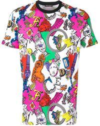 Versace アルファベットプリント Tシャツ - マルチカラー