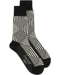Yohji Yamamoto ジオメトリック 靴下 - ブラック