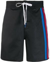 Perfect Moment Super Stripe Board Shorts - Black