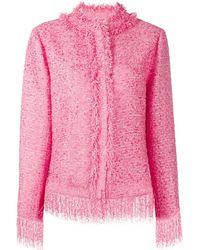 MSGM ツイードジャケット - ピンク