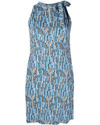 Aspesi ジオメトリックパターン ドレス - ブルー