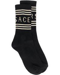 Versace Носки С Логотипом - Черный