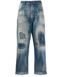 Maison Margiela Distressed Effect Denim Jeans - Blue