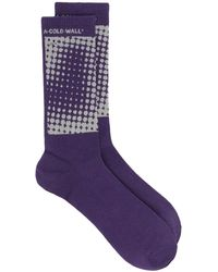 A_COLD_WALL* Dot Print Socks - Purple