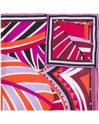 Emilio Pucci - Leaf Print Scarf - Lyst