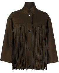 Roseanna Bauhaus Fringed Jacket - Brown