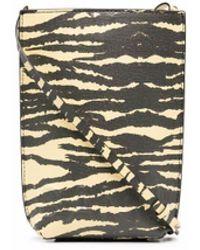 Ganni Mini pochette à motif tigré - Multicolore