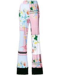 Class Roberto Cavalli Flared Trousers - Pink