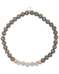 Tateossian - Mesh Beaded Bracelet - Lyst