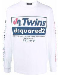 DSquared² ロゴ ロングtシャツ - ホワイト