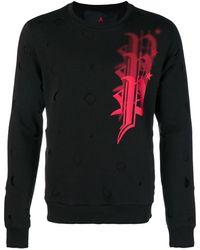Philipp Plein Distressed Logo Sweatshirt - Черный
