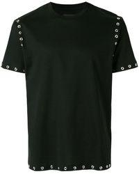 Les Hommes スタッズトリム Tシャツ - ブラック