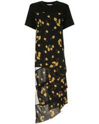 3.1 Phillip Lim フローラル ドレス - ブラック