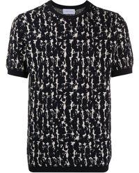 Christian Wijnants アブストラクトパターン Tシャツ - ブラック