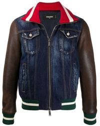DSquared² - Джинсовая Куртка Со Вставками - Lyst