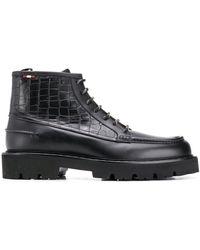 Bally Ботинки С Тиснением Под Кожу Крокодила - Черный