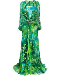 Versace Jungle Floor-length Dress - Green