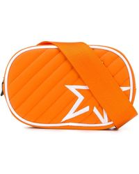 Perfect Moment Star Patch Quilted Belt Bag - Orange