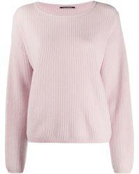 Luisa Cerano Ribbed Knit Jumper - Pink