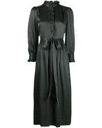Marc Jacobs Платье-рубашка С Узором В Горох - Черный