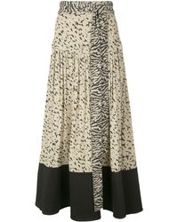 Proenza Schouler Pleated Animal-print Skirt - Green