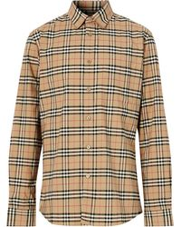 Burberry Camisa a cuadros pequeños - Multicolor