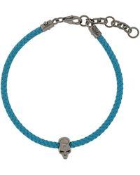 Northskull Armband Met Doodskop - Blauw