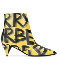 Burberry - Printed Ankle Boots - Lyst