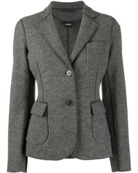 Aspesi Exposed-seam Wool Blazer - Grey