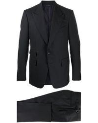 Tom Ford Costume droit classique - Bleu