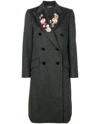 Dolce & Gabbana | Floral Lapel Coat | Lyst