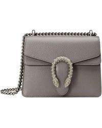 Gucci Dionysus Plaque Mini Bag - Серый
