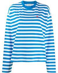 Carhartt WIP ストライプ ロングtシャツ - ブルー