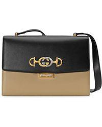 75958f1ea Gucci GG Marmont Medium Matelassé Shoulder Bag in Black - Lyst