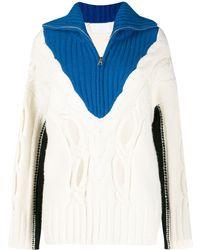 Zadig & Voltaire Maglione con design color-block - Bianco