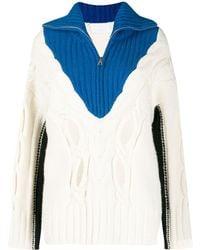 Zadig & Voltaire Pullover in Colour-Block-Optik - Weiß