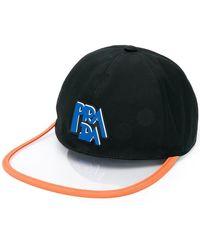0e14eb1f496 Prada Black Logo Bucket Hat in Black - Lyst